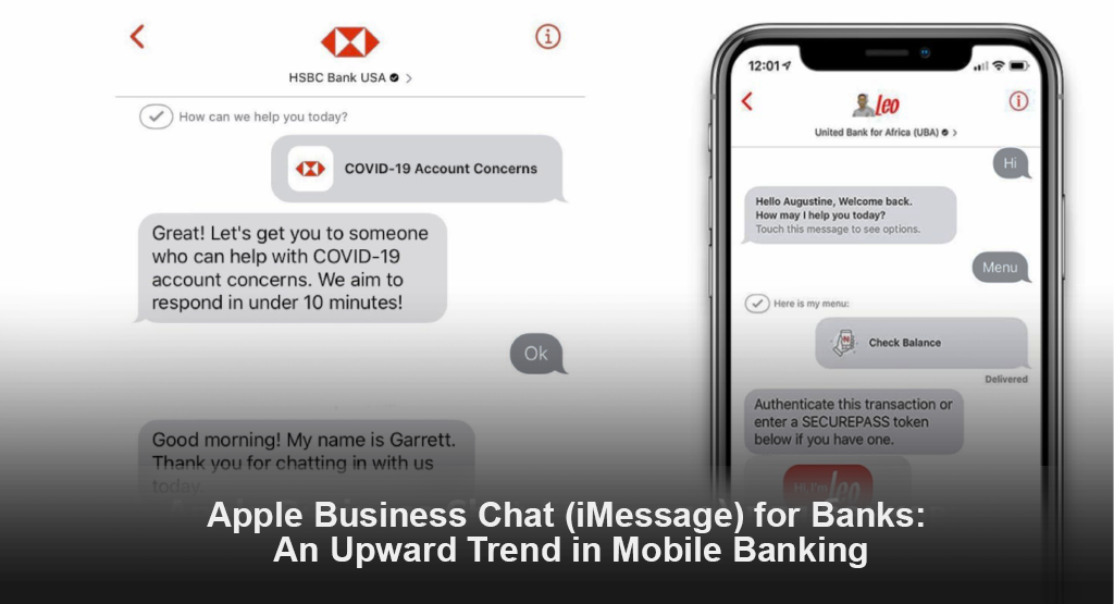 Apple Business Chat (iMessage) for Banks: An Upward Trend in Mobile Banking